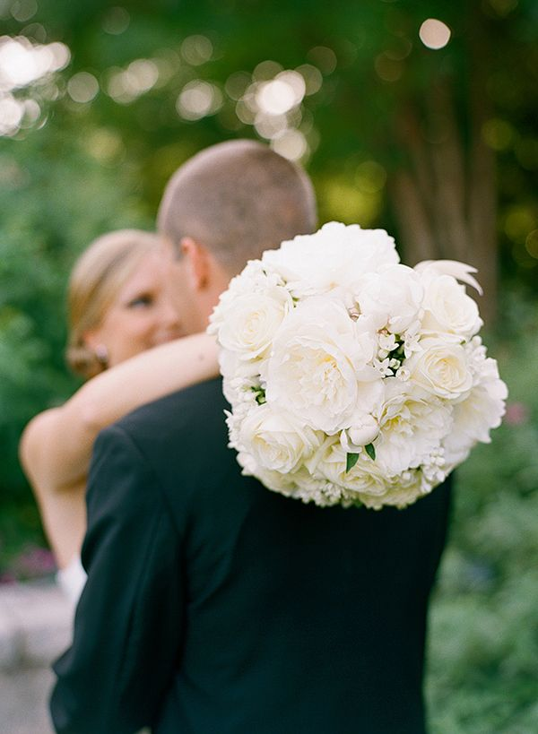 White Rose Bridal Bouquet | photography by http://msp-photography.com/