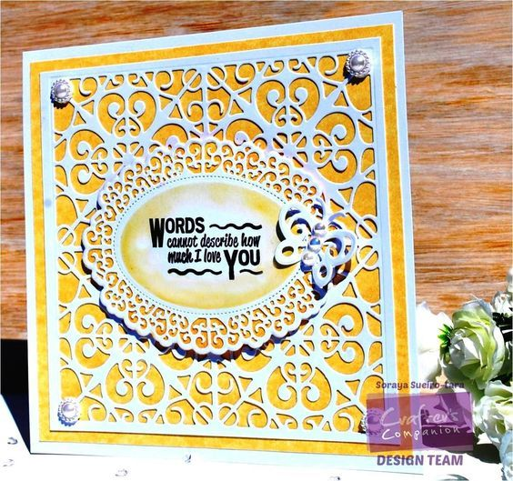 Square Card - using Crafter's Companion Downton Abbey Collection. Designed by Soraya Sueiro-Lara #crafterscompanion #DowntonAbbey