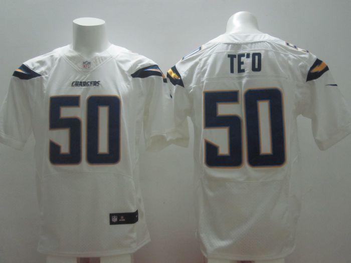 San Diego Chargers  #50 Manti Te'o Dark