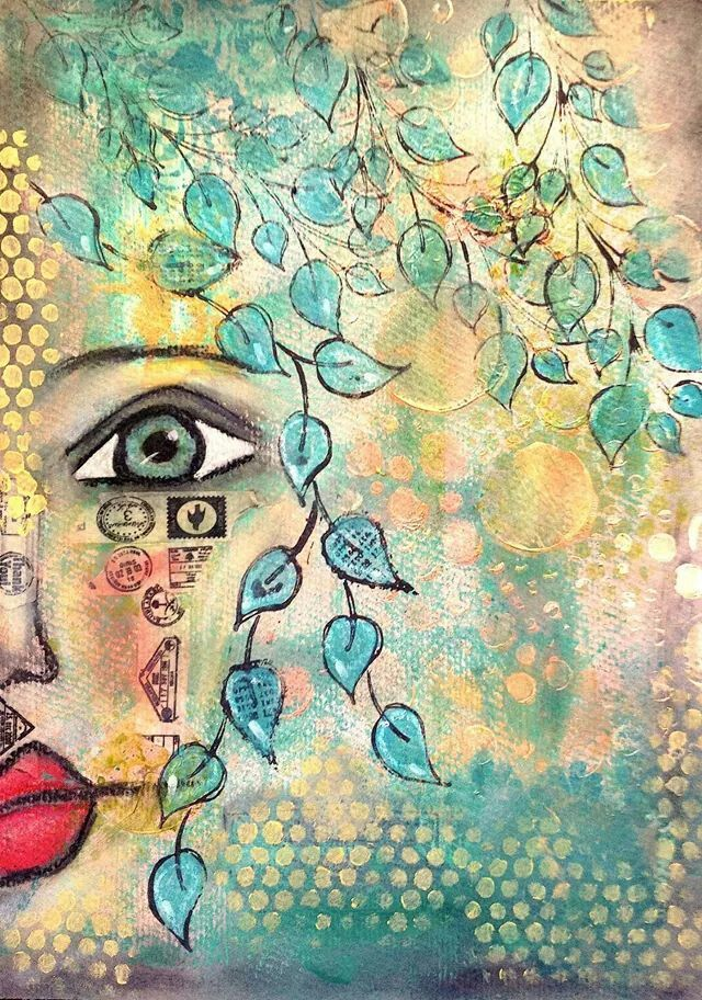 Beautiful by Χάπυ Φιτ from THE DYAN REAVELEY SOCIETY OF ART JOURNALING Gateway Group on FB