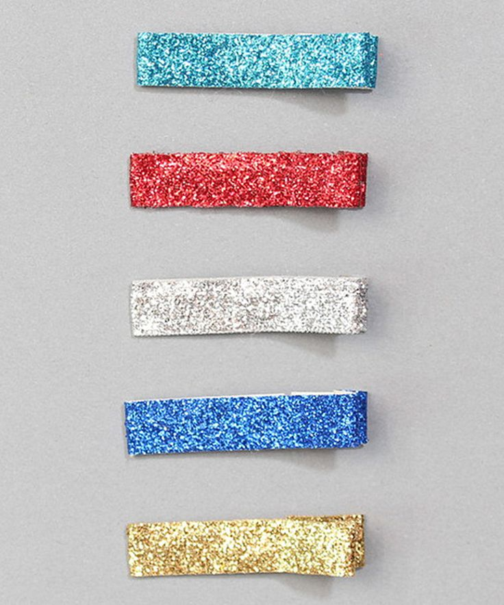 This Charlotte Rose Couture Red & Blue Sparkle Ribbon Clip Set by Charlotte Rose Couture is perfect! #zulilyfinds