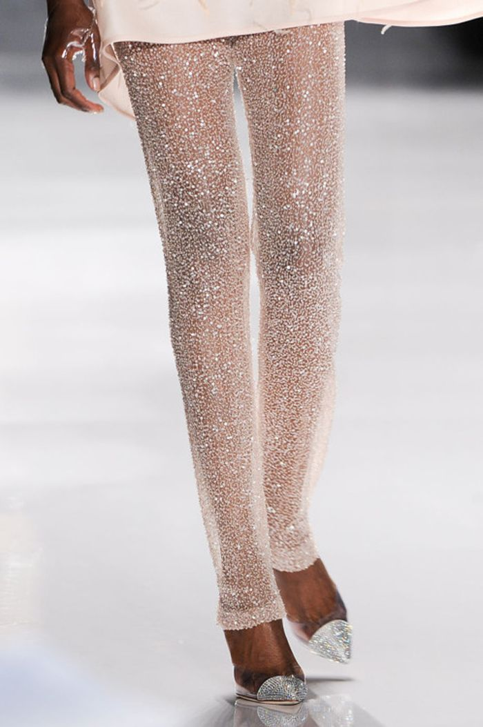 shimmery and sheer leggings -- for the right occasion on the skinniest of legs these could be cute!
