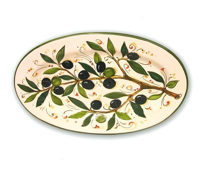 This is gorgeous! ~ ceramiche_borgioli_toscana_vassoio_ovale_ova1728-o