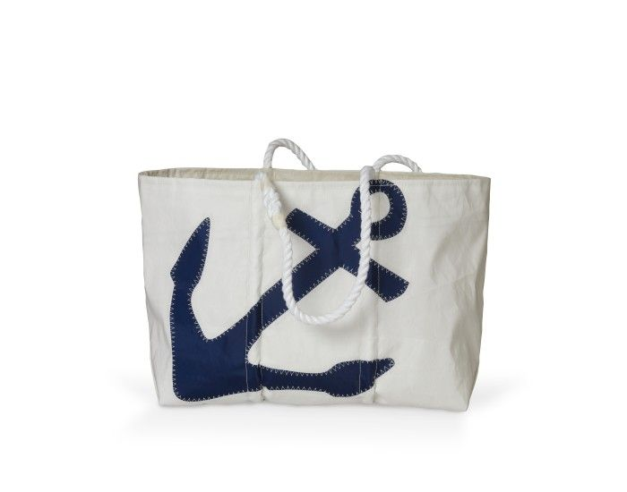Love these! Made in Maine (how could I NOT love them?) and out of recycled sail cloths! So great for a beach bag, family tote, etc.