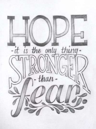 Hope vs. Fear Art Print - quote from The Hunger Games - $25.00