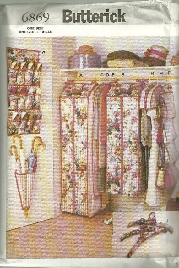 Merveilleux Butterick 6869 Closet Organizers Pattern Home Decor Sewing Pattern By  Mbchills
