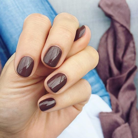 74 Fall Nail Colors Gel Nail Polish Design