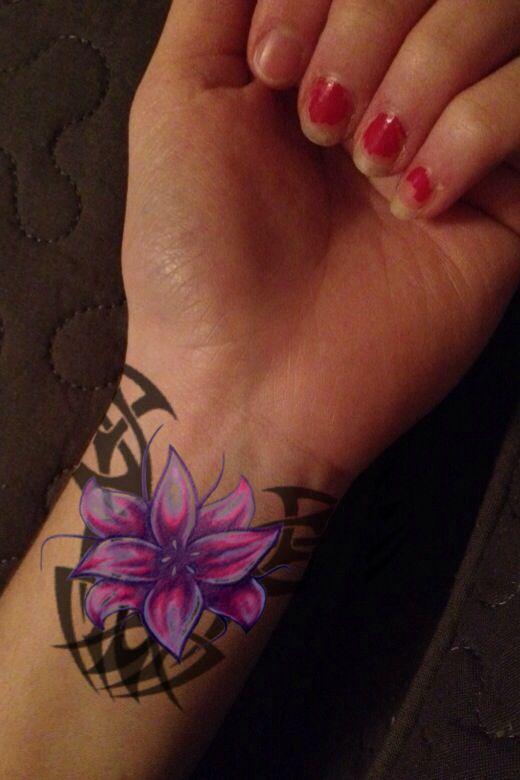 Tribal flower tattoo