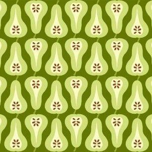 Makower - Juicy - Pears Green - cotton fabric