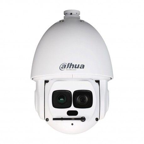 """IP PTZ камера для уличного наблюдения с автосопровождением. Матрица: 1/1,9"""" Sony STARVIS™ CMOS. Разрешение: 1920x1080 пикс. (2 Мп). Скорость потока: 30 к/с. Фокусное расстояние: 6-180 мм. Дальность ИК подсветки: до 500 метров. Тревожный вх./вых.: 7/2 шт. Пресеты: 300 координат. Зон обхода: 8 шт. Управление PTZ: сеть (DH-SD), RS-485 (Pelco P/D). Поддержка ONVIF, PSIA, CGI. Молниезащита: 8 кВ."""