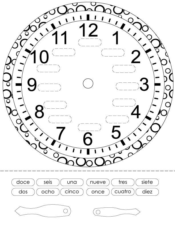 Reloj para Imprimir Colorear y Armar | Planeaciones Gratis