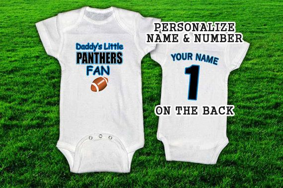Daddys Little PANTHERS Fan Football Onesie/TShirt with by 10Four, $16.99