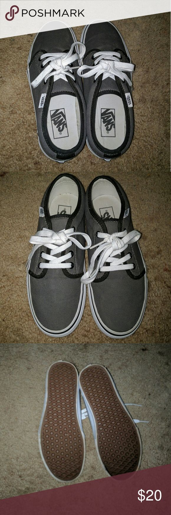 Vans shoes Great condition, no rip or tear. Men size 6, women size 7.5. ??Price for sale. ?? Vans Shoes Sneakers