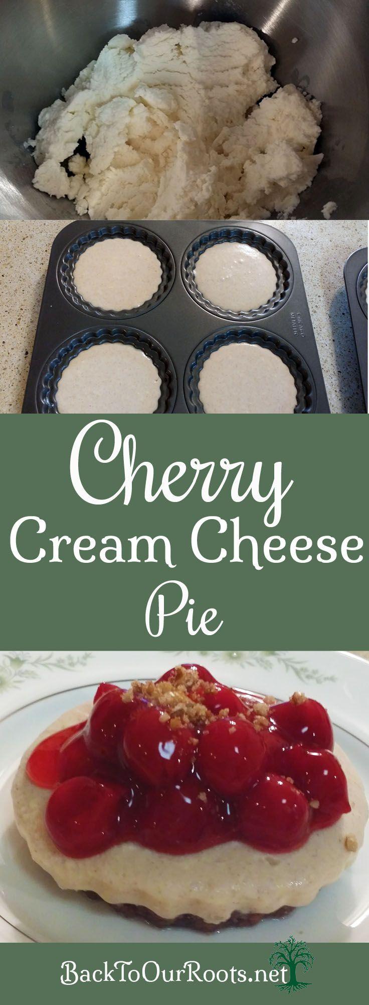 No Bake Cherry Cream Cheese Pie