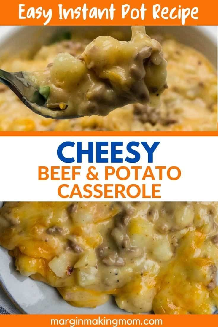 Cheesy Instant Pot Ground Beef And Potatoes Recipe In 2020 Ground Beef And Potatoes Beef And Potatoes Easy Instant Pot Recipes