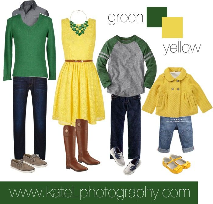 Green + Yellow // Family Outfit
