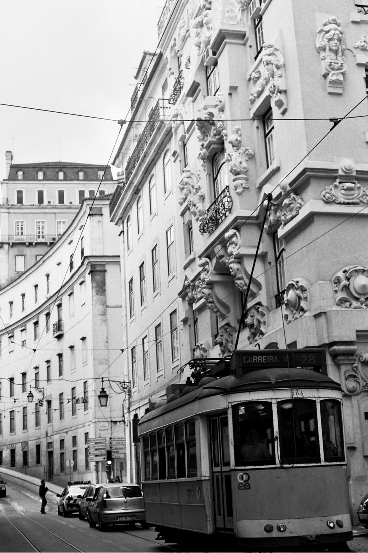 Trolly Car Barrio Alto Lisbon Portugal Lisbon