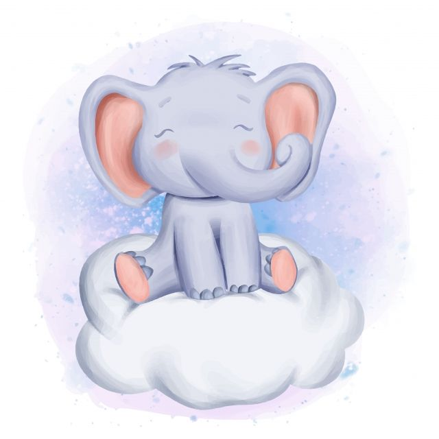 Elephant Sit On Watercolor Love Hand Png And Vector With Transparent Background For Free Download Baby Elephant Cartoon Elephant Elephant
