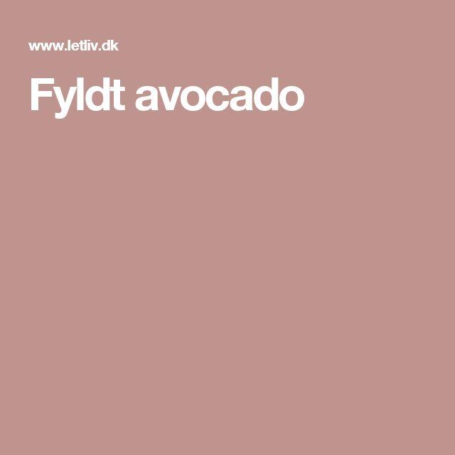 Fyldt avocado