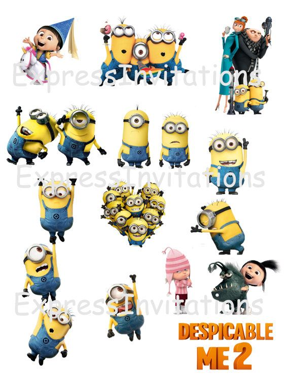 instant download despicable me minions printable party. Black Bedroom Furniture Sets. Home Design Ideas