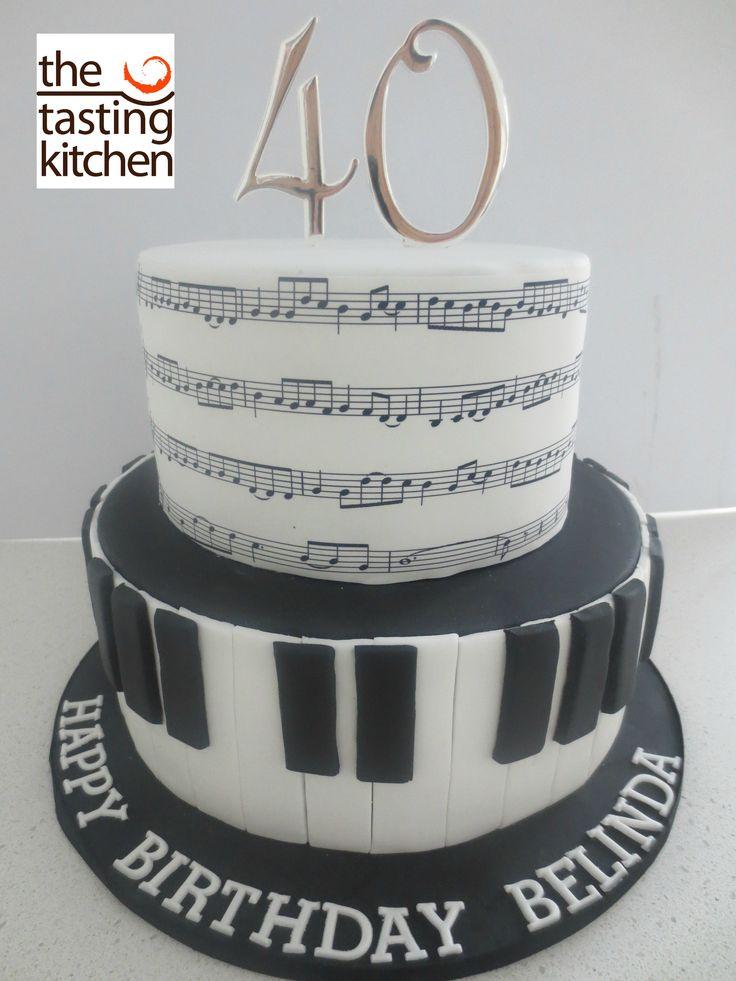 Music Birthday Cake, Piano Keys