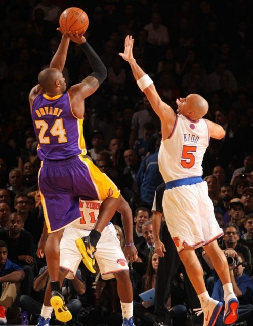 Kobe fadeaway on Jason Kidd.