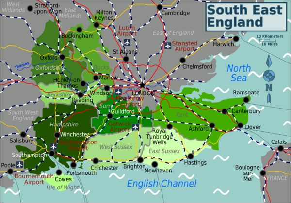South East England travel guide http://wikitravel.org/en/South_East_(England)#