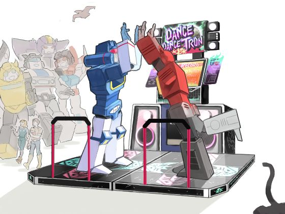 Blaster and Soundwave