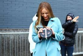 NYFW Fall 2014: Street Style Harley Viera-Newton Diane Von Furstenberg Coat & Bag