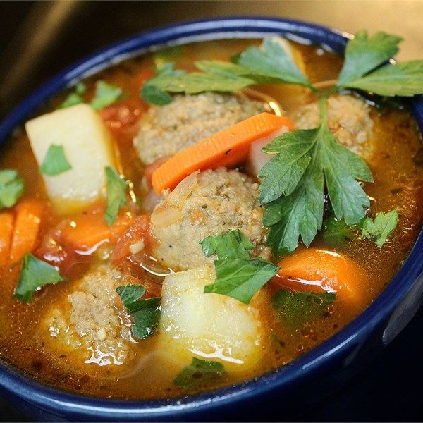 "Albondigas | ""This is a quick and easy recipe that tastes delicious. Carrots and potatoes, with salsa and meatballs, makes for a hearty, delicious soup that can be prepared in no time at all."""