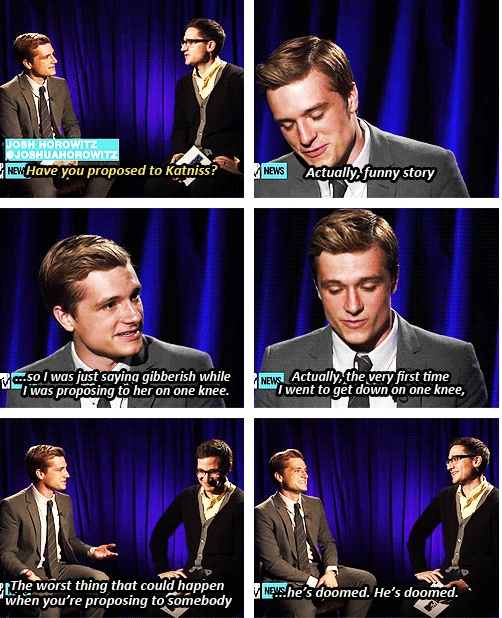 125 best hunger games cast interviews images on pinterest the josh talked about the proposal scene in catching fire and how his pants got ripped when the hunger gameshunger voltagebd Gallery