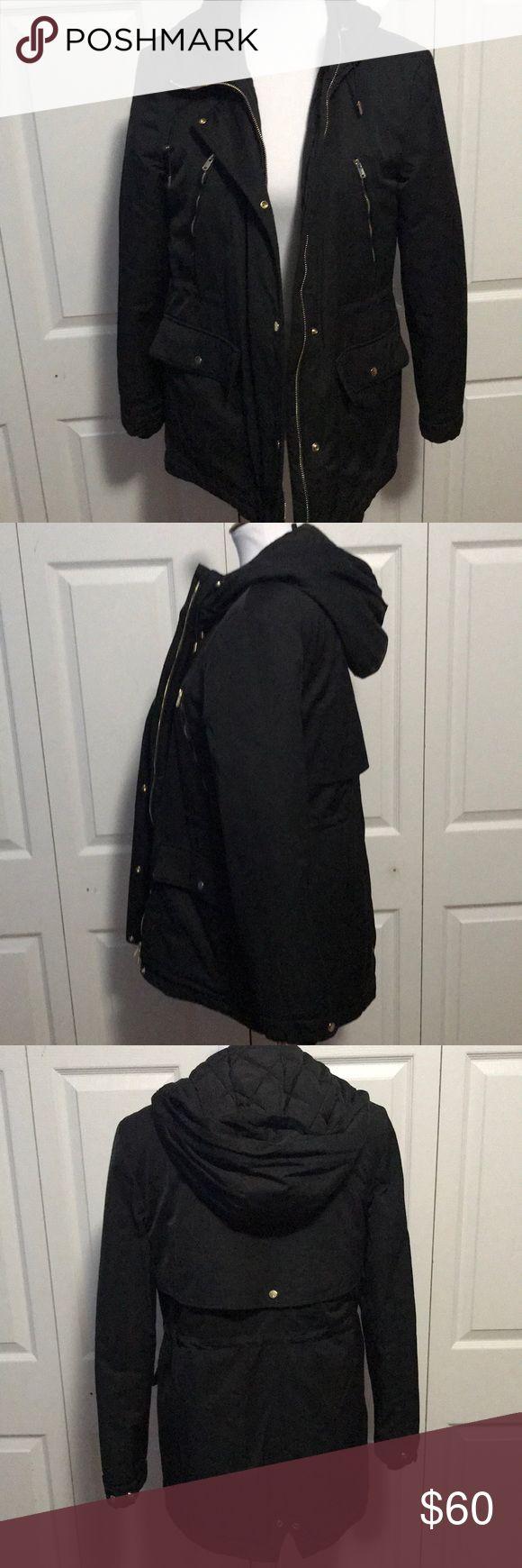 Zara Black parka  jacket Black jacket. Never worn. Excellent condition Zara Jackets & Coats