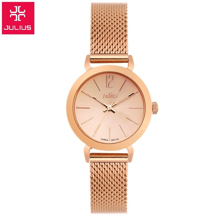 New Top brand Julius watch women luxury dress full steel watches fashion casual Ladies quartz watch Rose gold Female table clock-in Women's Watches from Watches on Aliexpress.com | Alibaba Group