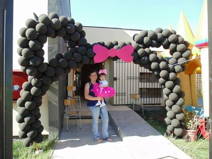 Minnie cumpleaños globos