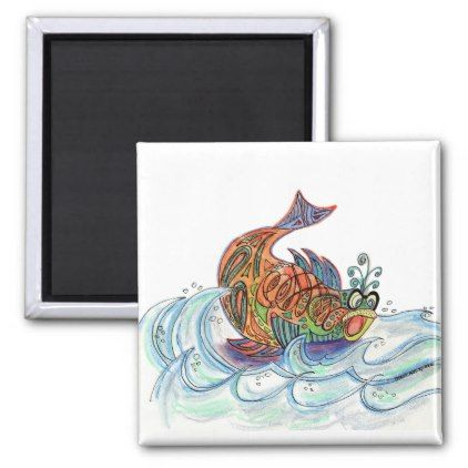Fish out of Water Magnet - home gifts ideas decor special unique custom individual customized individualized