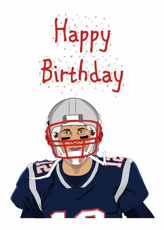 Tom Brady New England Patriots Gift Unique Funny Happy Birthday