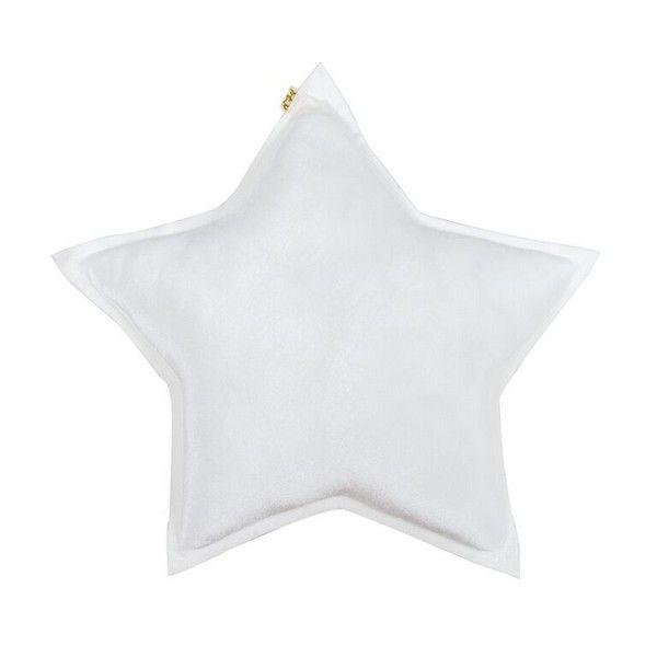 Coussin Etoile Velours Blanc Numero 74 - small