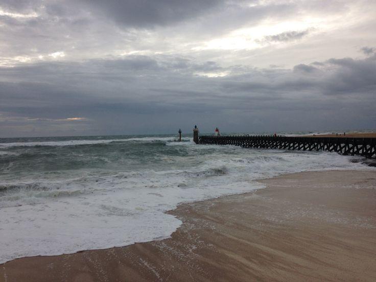 Tempête à Capbreton #landes #capbreton #vagues #estacade #beach #waves