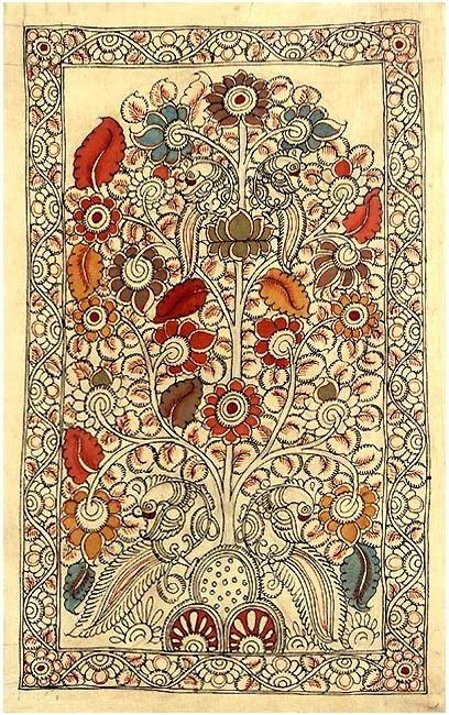 dwaraka kalamkari tree of life | Home » » Kalamkari Tree ...