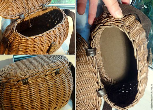 Сумки и аксессуары ручной работы. сумочка-саквояж плетеная