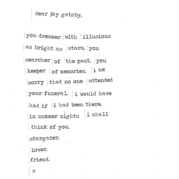 thefairiesandtheboy: . dear jay gatsby . made by... ❤ liked on Polyvore featuring text, quotes, words, backgrounds, filler, borders, phrase, picture frame and saying