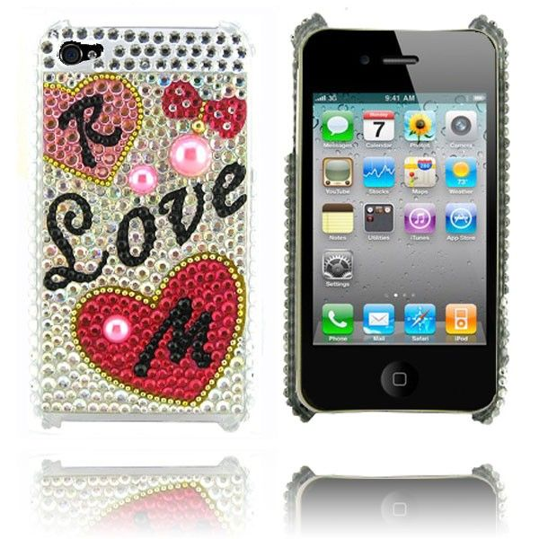 Kimberly (Love) iPhone 4 Deksel lux-case.no
