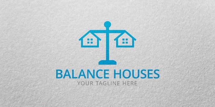 Balance Houses Logo Template for Sale: 26$ + TVA