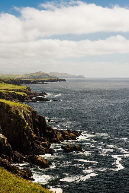 Dingle Peninsula, County Kerry, Ireland For when picking a place to come up with new lines and designs.