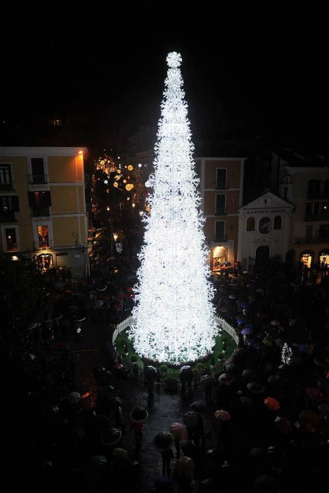 Christmas tree in Salerno