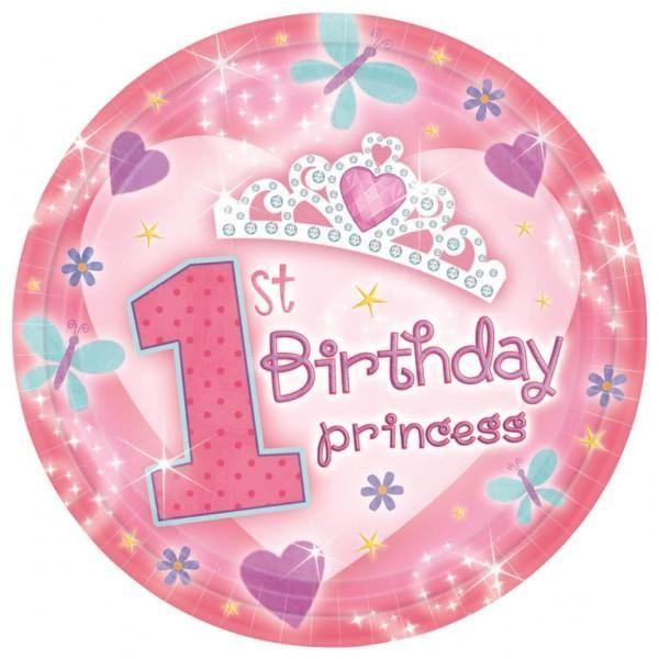 Piatti 1° Compleanno bambina pz.18   Europarty