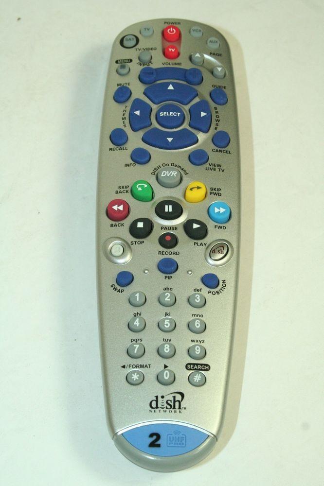 Dish Network 6 3 Ir Uhf Pro Tv2 2 Remote Control 148786