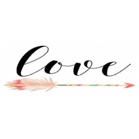 Love with Arrow Canvas Art - Tara Moss (10 x 20)