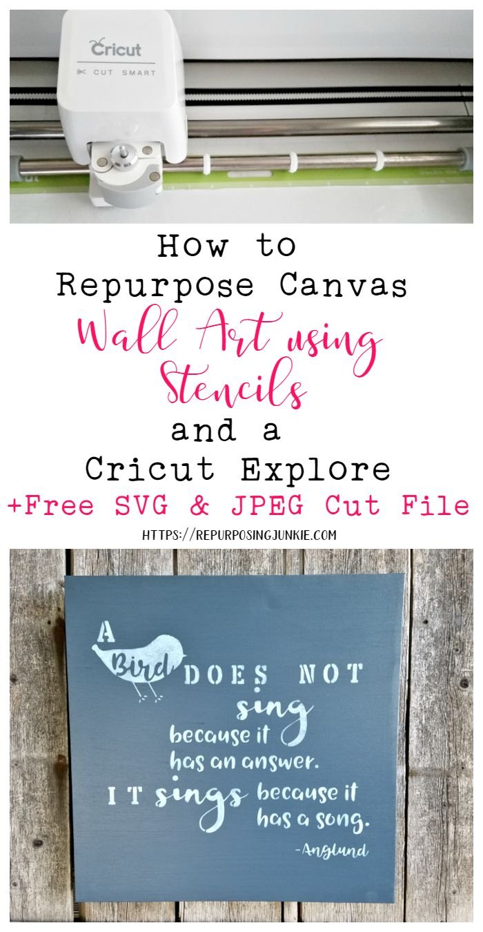I was given some canvas art recently and I'm only going to share How to Repurpose Canvas Art with Stencils and a Cricut Explore.