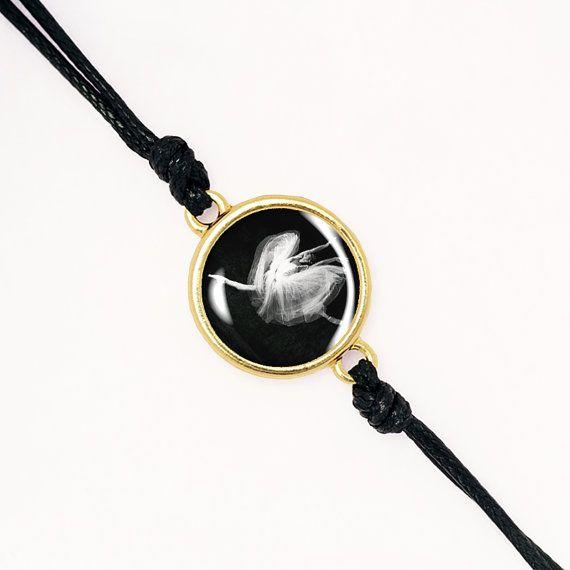 Romantic Ballerina Bracelet, Dancer, Ballet, Handmade Glass Cabochon, Silver, Antique Bronze, KC Gold BCZA01R05K03